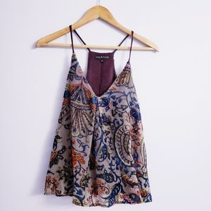 Mary & Mabel Velour Paisley Print Top